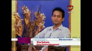 Foto Talkshow Dinar Sudianto ownwr positive+ management di Bandung TV