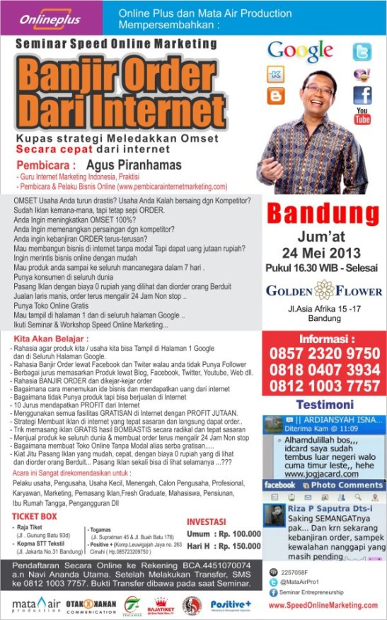 Seminar Internet Marketing Bandung