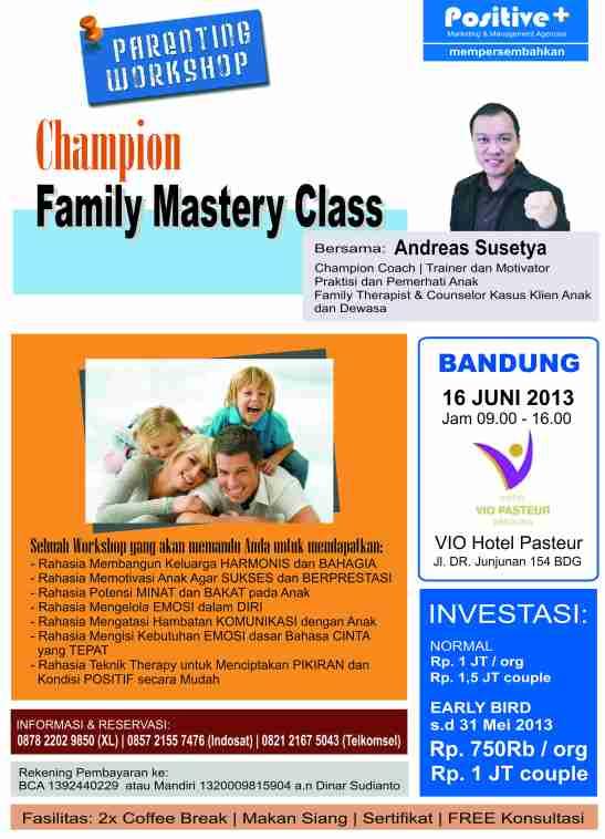 parenting workshop bandung family mastery class bandung 16 juni 2013