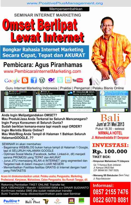 seminar internet marketing di bali