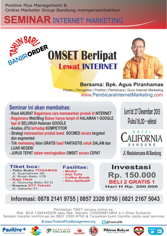 seminar internet marketing bandung, seminar internet marketing 2013