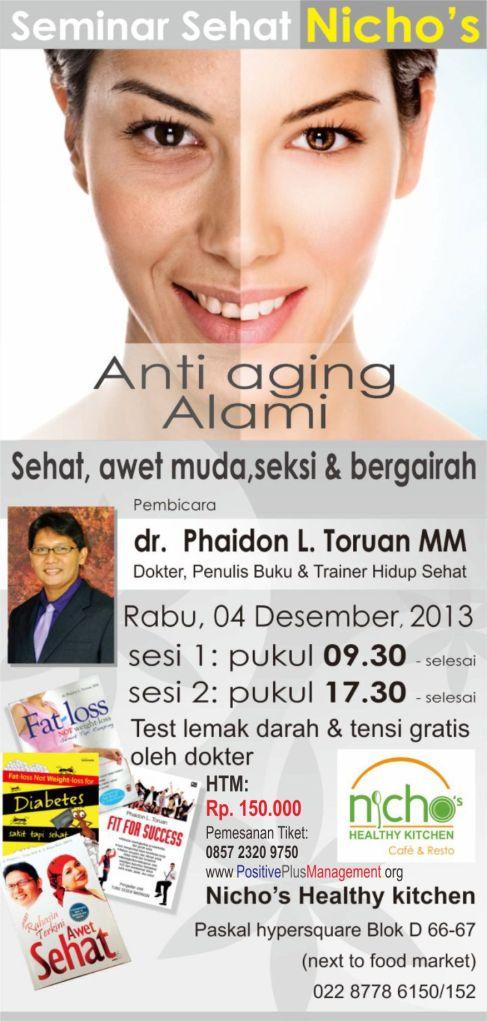 seminar dr phaidon di bandung, seminar anti aging