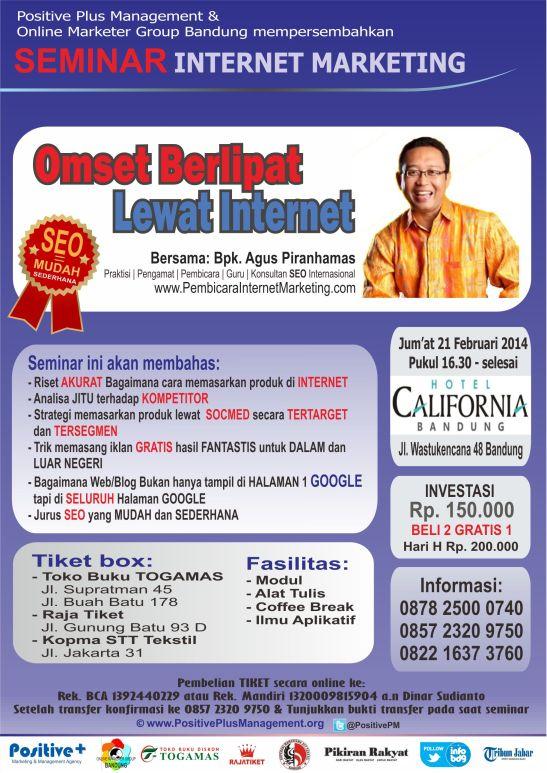 Seminar internet Marketing di Bandung 2014, Seminar SEo di Bandung