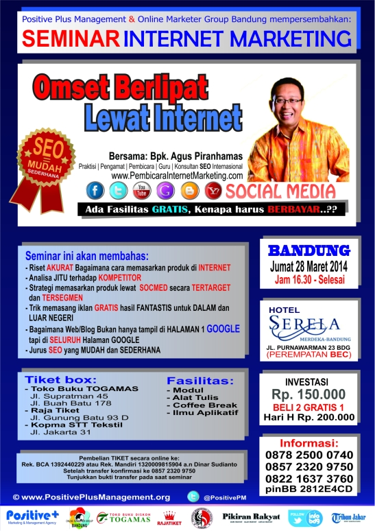 Seminar Internet Marketing indonesia