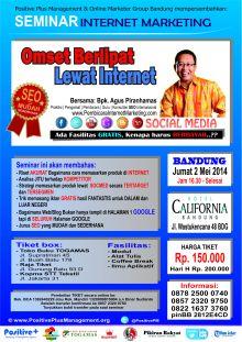 Seminar Omset Berlipat Lewat Internet, Seminar SEO Bandung
