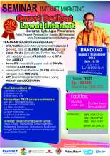 Seminar Internet Marketing di Bandung 2014