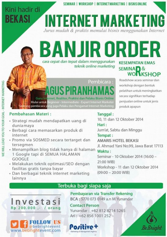Seminar dan Workshop Internet Marketing di Bekasi 2014
