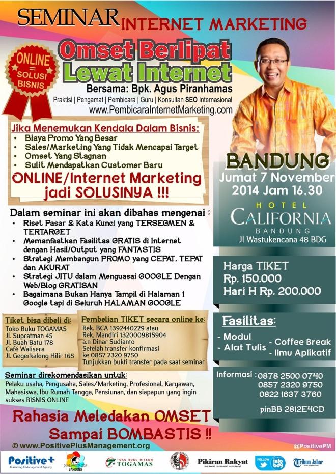 Seminar Internet Marketing di Bandung 2014