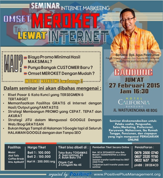 Seminar Internet Marketing di Bandung,