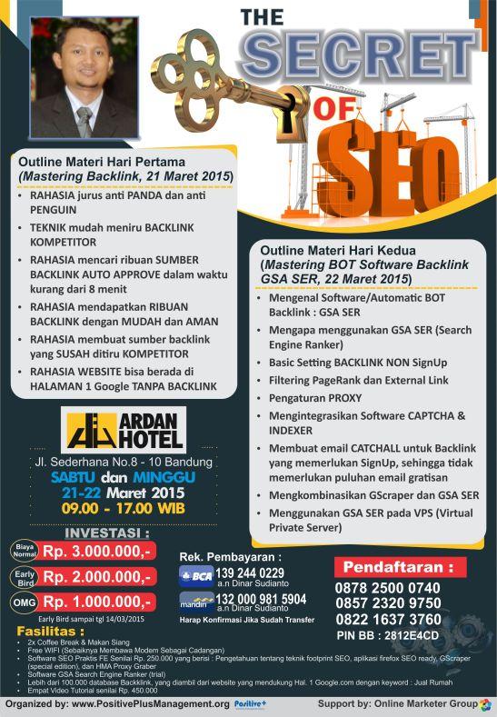 Jadwal Workshop SEO di Indonesia, Workshop SEO Bandung