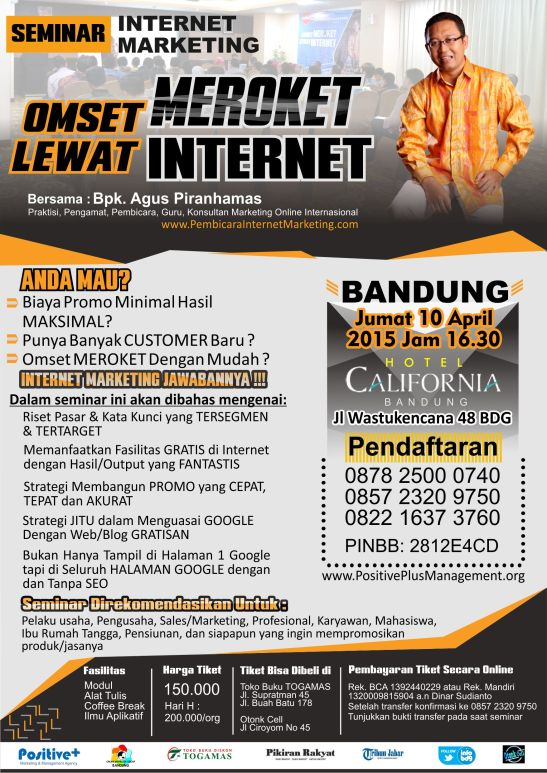 Seminar internet marketing di Bandung, Seminar Internet Marketing Bandung