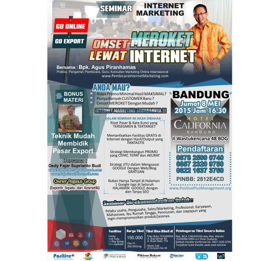Seminar Internet marketing 2015, Seminar SEO Bandung