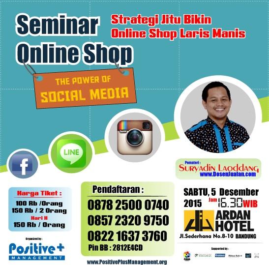 Seminar Bisnis Online Shop