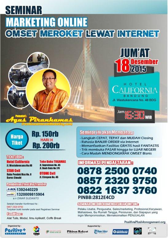 Seminar Marketing Bandung, Seminar Internet Marketing 2015, Seminar Internet Marketing Bandung