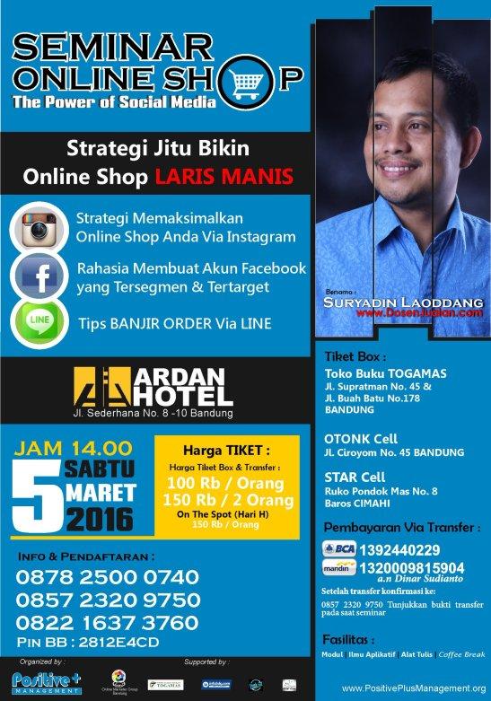 Seminar Bisnis Online Bandung, Seminar Social Media Marketing