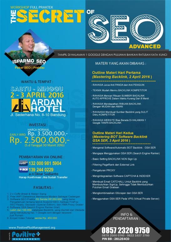 Workshop SEO di Bandung, Jadwal Workshop SEO di Indonesia, Workshop SEO Bandung