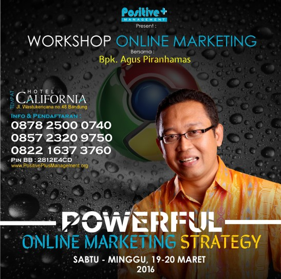 Workshop Online Marketing, Workshop Internet Marketing Indonesia