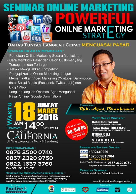 Seminar Internet Marketing 2015, Seminar Internet Marketing Bandung, Seminar Internet Marketing di Bandung