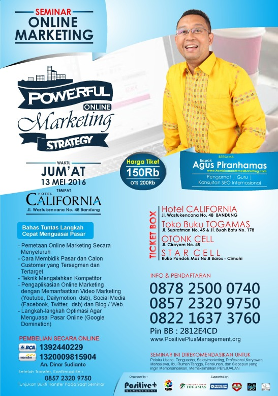 Seminar Internet Marketing Indonesia, Belajar Internet Marketing, Strategi Internet Marketing, Ilmu Internet Marketing