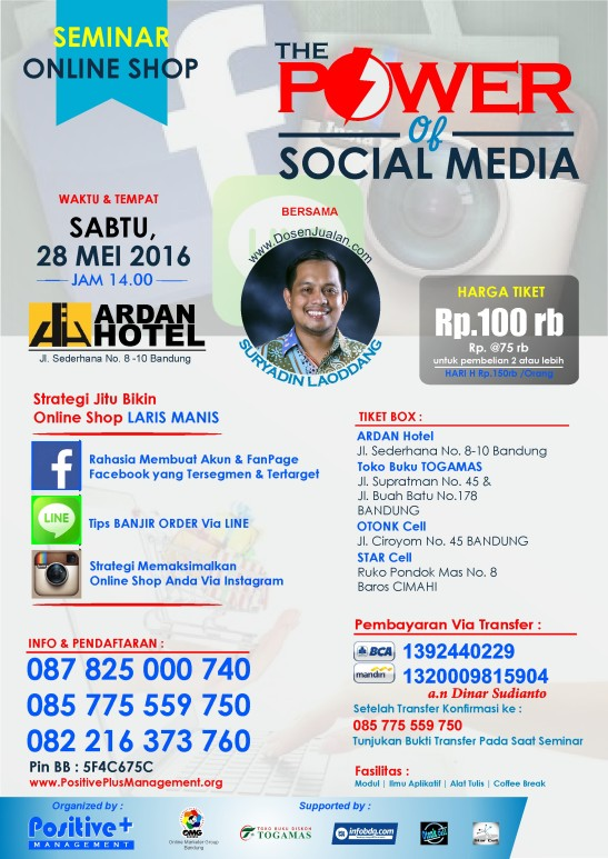 eminar Social Media Marketing, Seminar Sosial Media, Seminar Tentang Sosial Media, Seminar Meningkatkan Penjualan