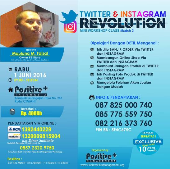 Mini Workshop Twitter & Instagram Revolution