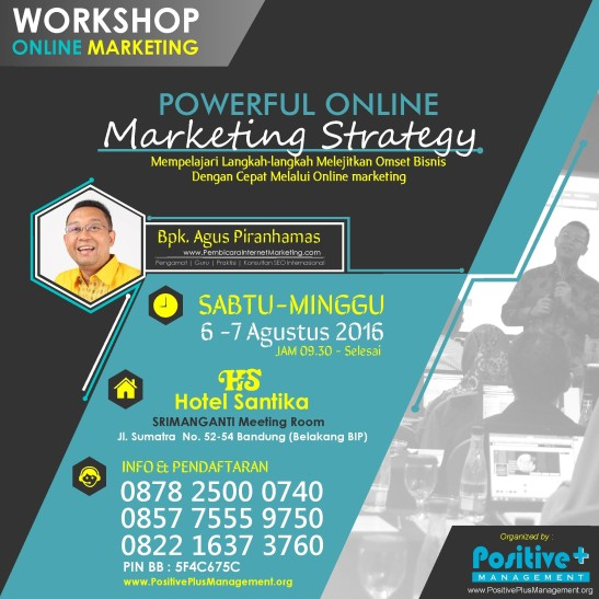 Workshop Internet Marketing Bandung, Workshop Internet Marketing di Bandung, Belajar Internet Marketing Online