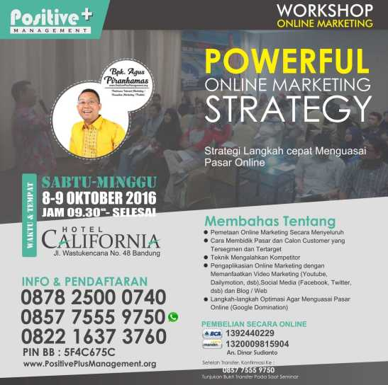 Workshop Internet Marketing Bandung, Workshop Internet Marketing Indonesia, Workshop Internet Marketing di Bandung