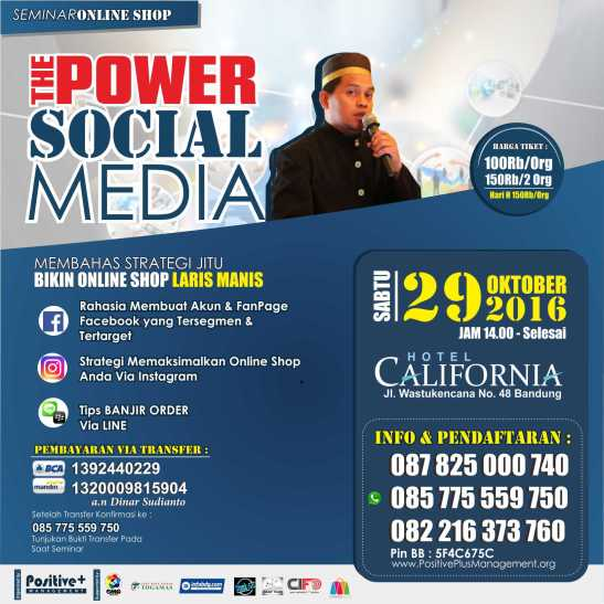 eminar Bisnis Online Shop, Seminar Social Media Marketing, Seminar Sosial Media, Seminar Tentang Sosial Media