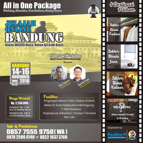 Wisata Bisnis Bandung, Wisata Bisnis di Bandung, Jelajah Bisnis, Bisnis Wisata Online