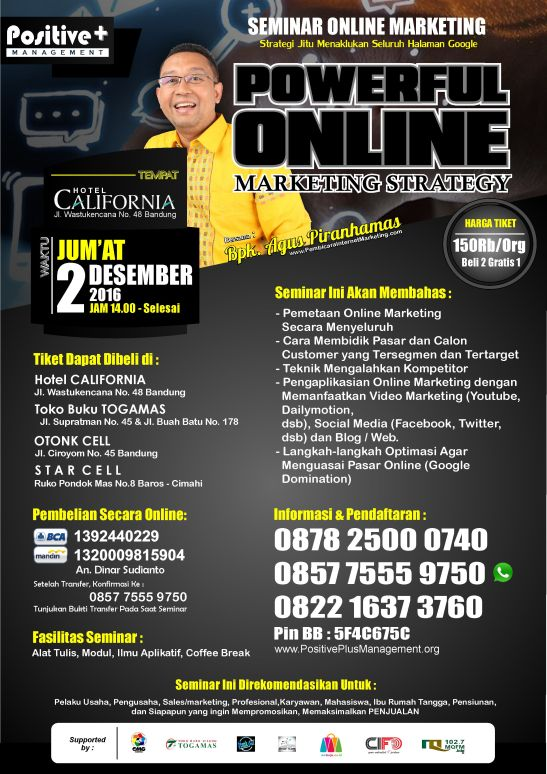 Seminar Internet Marketing Bandung, Seminar Internet Marketing di Bandung, Seminar Internet Marketing