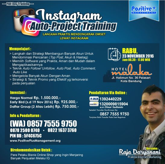 Pelatihan Instagram, Belajar Instagram Marketing