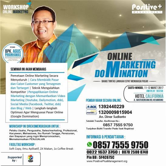Workshop Internet Marketing Bandung, Pelatihan Internet Marketing di Bandung, Workshop Internet Marketing di Bandung,